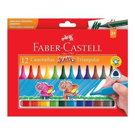 Canetinha Hidrográfica Faber Castell Triangular Jumbo 12 cores