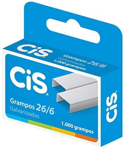 Grampo p/ Grampeador 26/6 Cis Galvanizado c/ 1000un