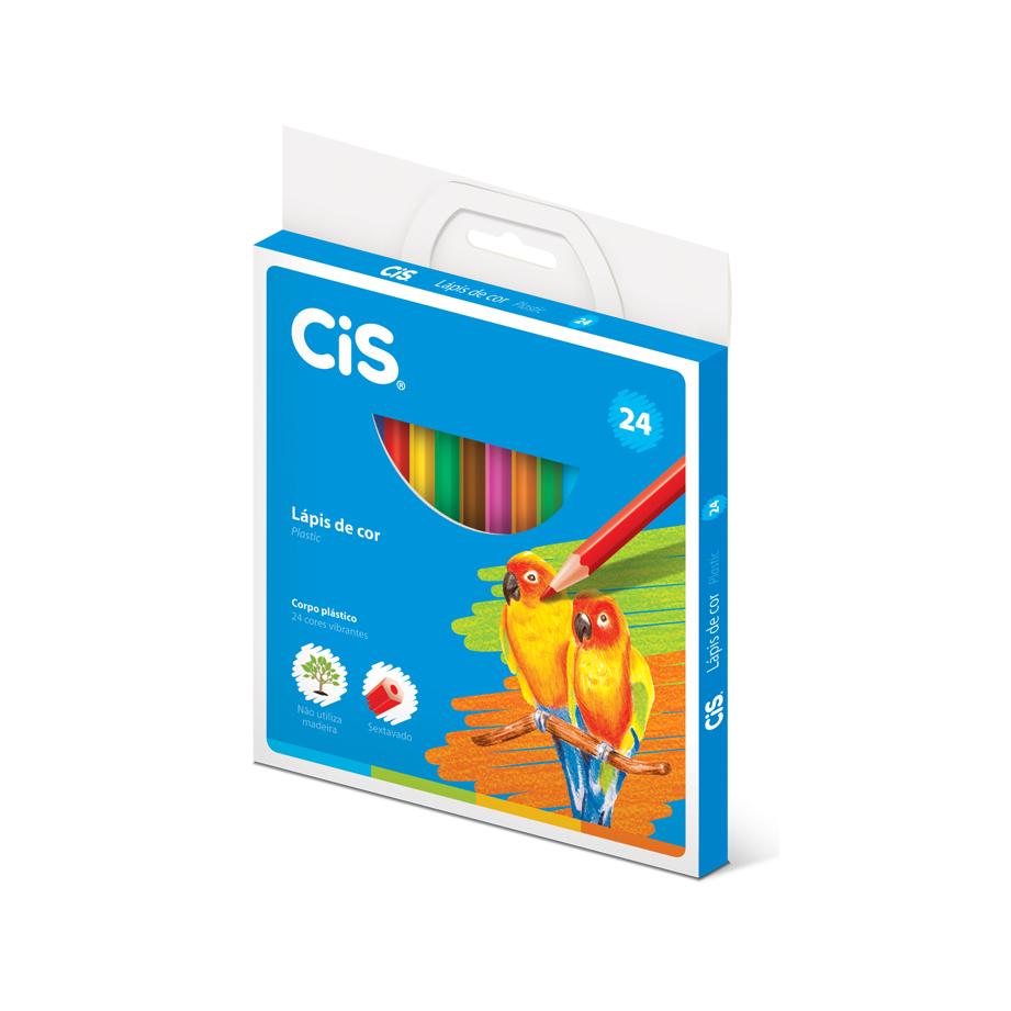Lápis de Cor Cis Plastic 24 Cores