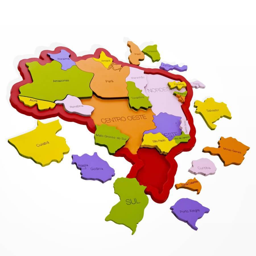 MAPA  BRASIL - REGIÕES, ESTADOS E CAPITAIS