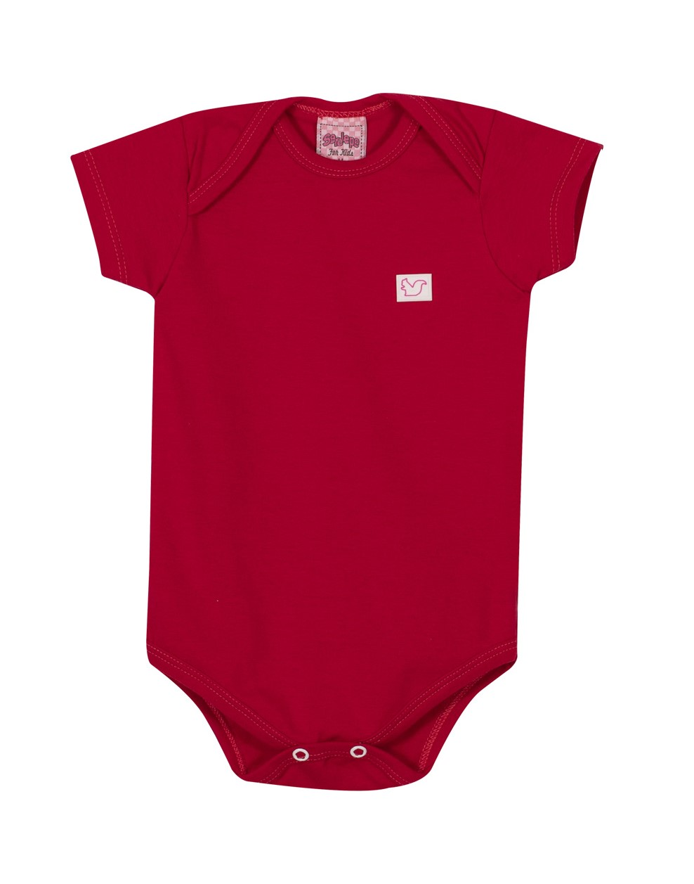 Body Bebê Menino - Vermelho