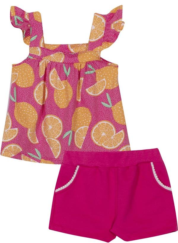 Conjunto Infantil Menina Lima - Pink