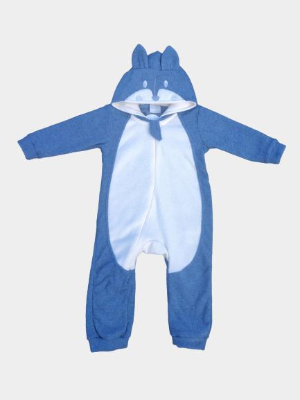 Macacão Animais Azul