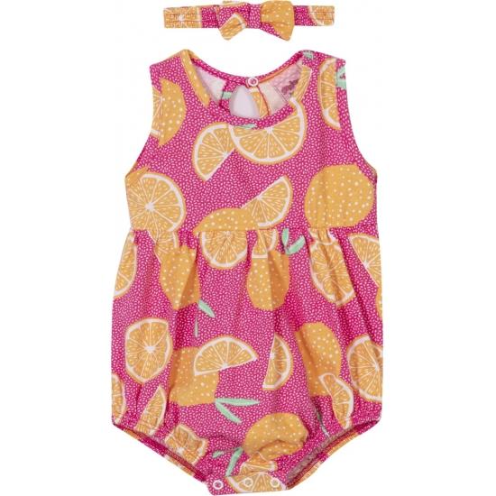 Macaquinho Bebê Menina Laranja - Pink