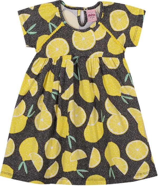 Vestido Infantil Menina Lima - Preto