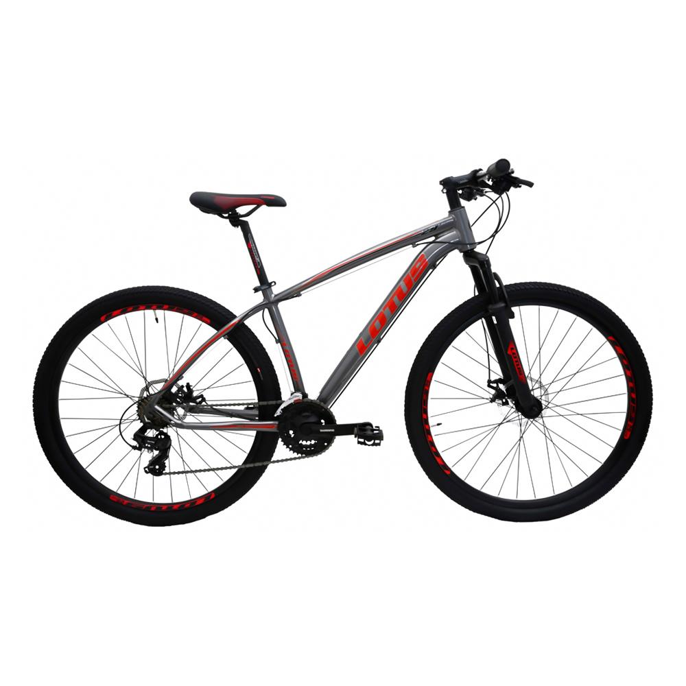 Bicicleta Aro 29 LOTUS/CXR - Cinza e Vermelho