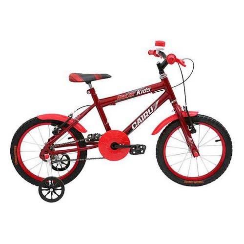 Bicicleta Aro 16 MTB Masculina Racer Kids - Vermelho