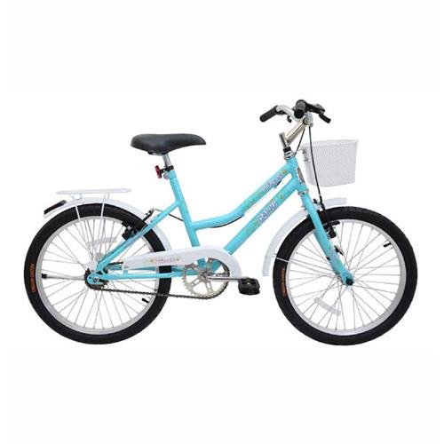 Bicicleta Aro 20 Princess V.B com Cesta Az Tiffany