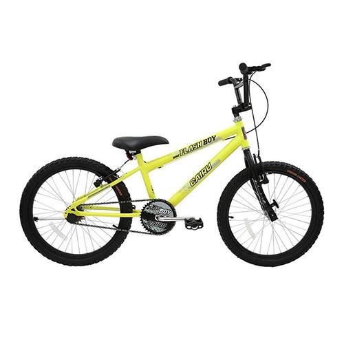 Bicicleta Aro 24 Flash Boy - Amarelo Neon