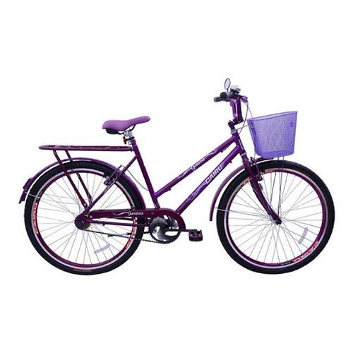 Bicicleta Aro 26 Genova com cesta Edição Limitada V.B - Violeta