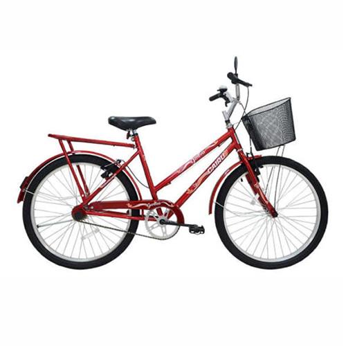 Bicicleta Aro 26 Genova R2,5 com cesta - Vermelha