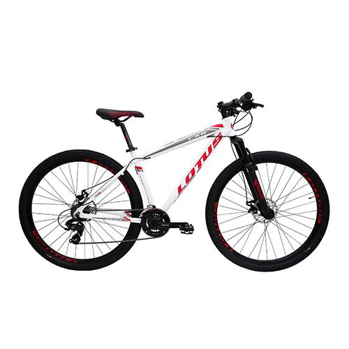 Bicicleta Aro 29 Lotus/CXR - Branco e Vermelho