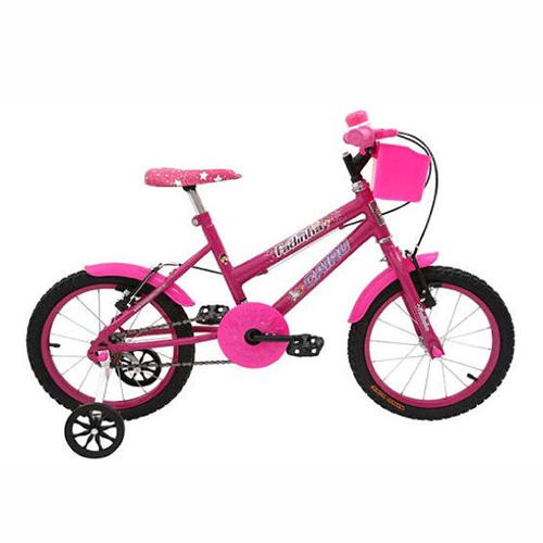 Bicicleta Infantil Aro 16 Cairu Fadinha Freio V-Brake - Rosa/Pink