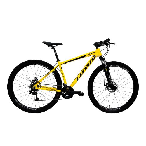 Bicicleta Lotus Aro 29 CXR 21v 17.5 - Amarela e Preta