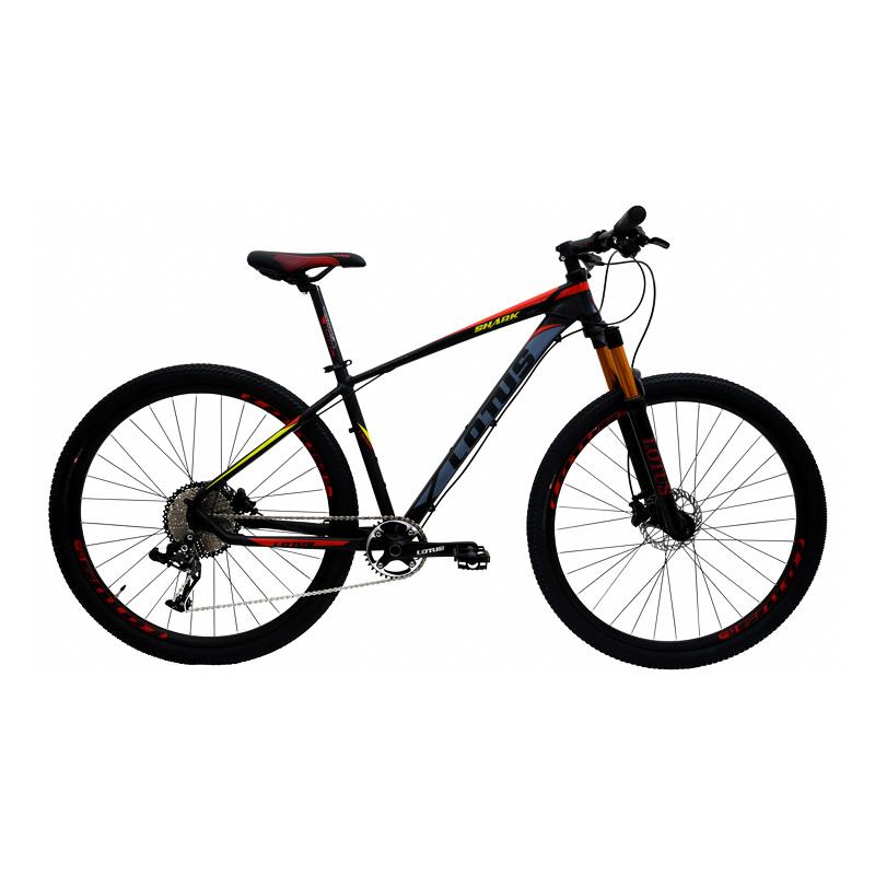 Bicicleta Lotus Shark Aro 29 - Preta e Vermelha