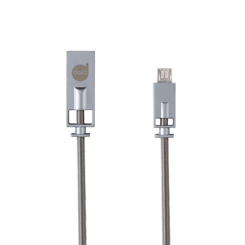 Cabo USB/Micro USB Premium Prata Dazz