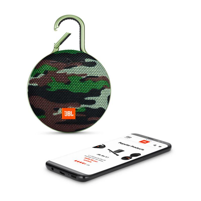 Caixa de Som Bluetooth JBL Clip 3 - Squad