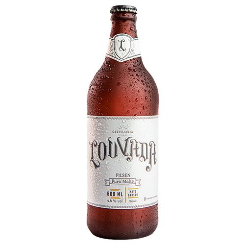 Cerveja Louvada Premium Lager 600ml