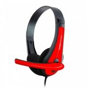 Headset Kross P2 Vermelho e Preto KE-HS050