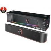 SOUNDBAR PARA TV E PC TRUST 24007 GXT-619 THORNE RGB LED STEREO PARA PC 12W