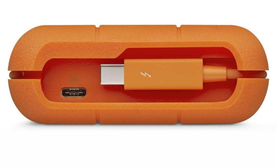 HD Externo Portátil LaCie Rugged 4TB USB-C e Thunderbolt