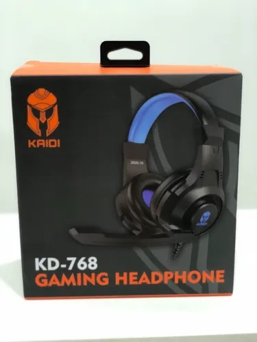Headphone Gaming Fone Kaidi Gamer Kd-768 Preto/Azul
