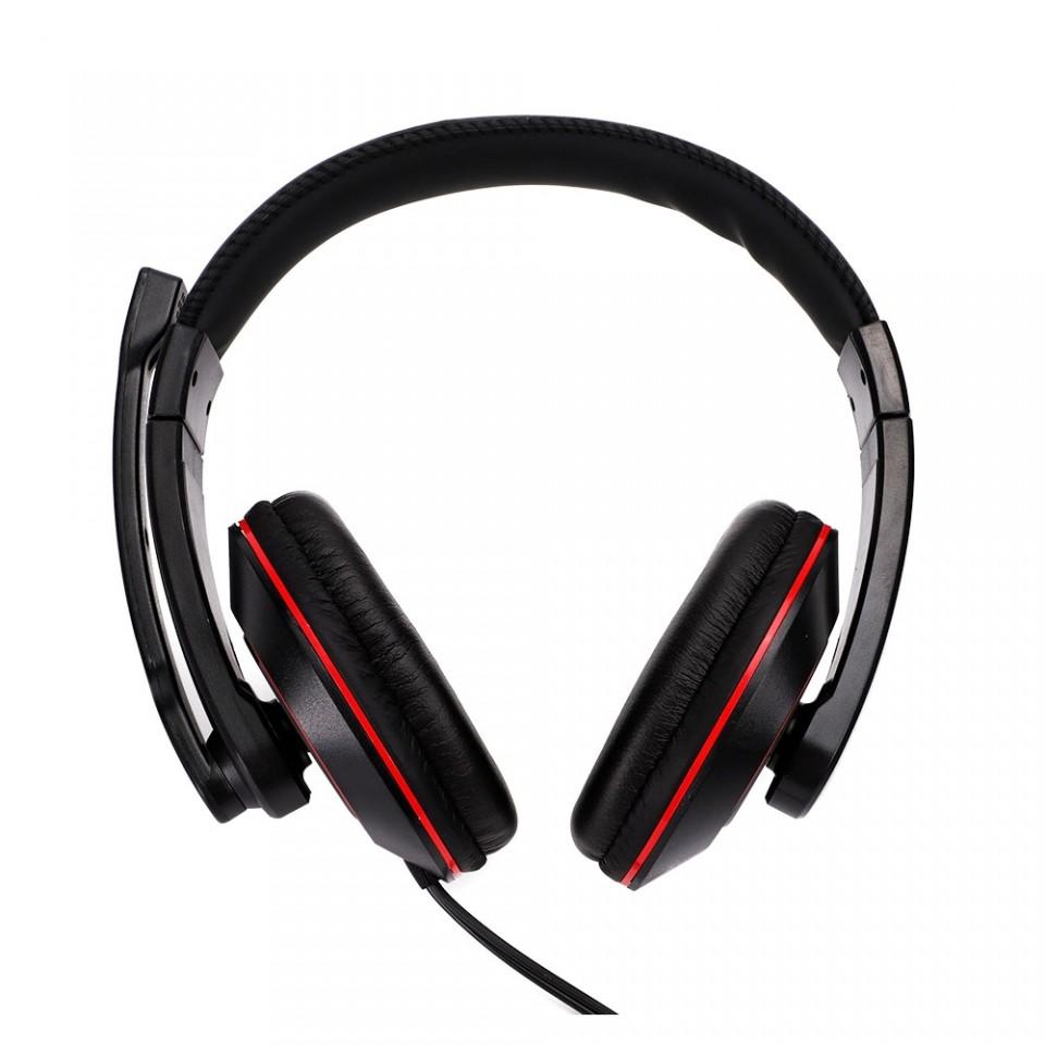 Headset Gamer Kross Khareus P2 Preto e Vermelho KE-HS098