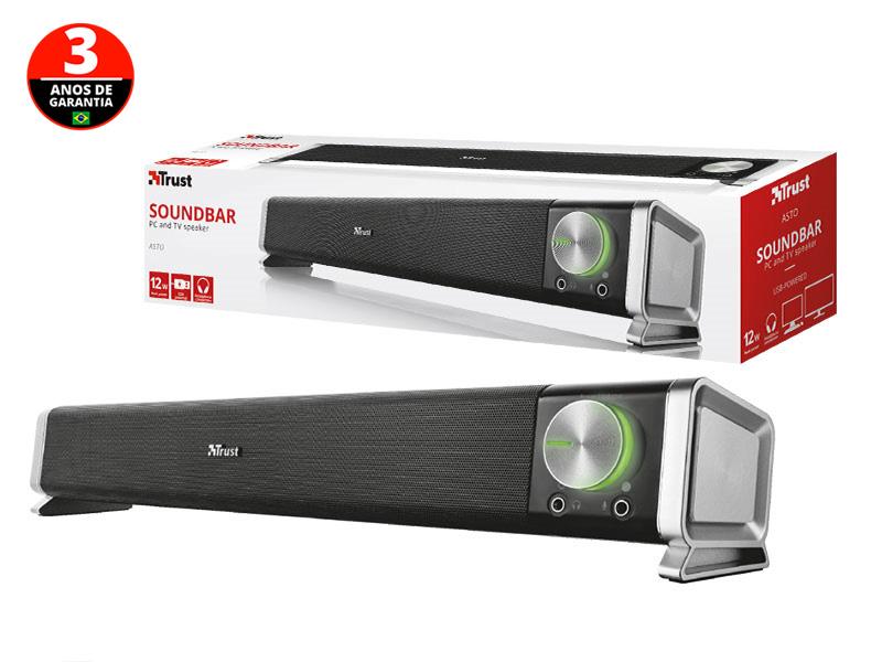 SOUNDBAR PARA TV E PC TRUST 21046 ASTO SOUNDBAR PARA PC 12W