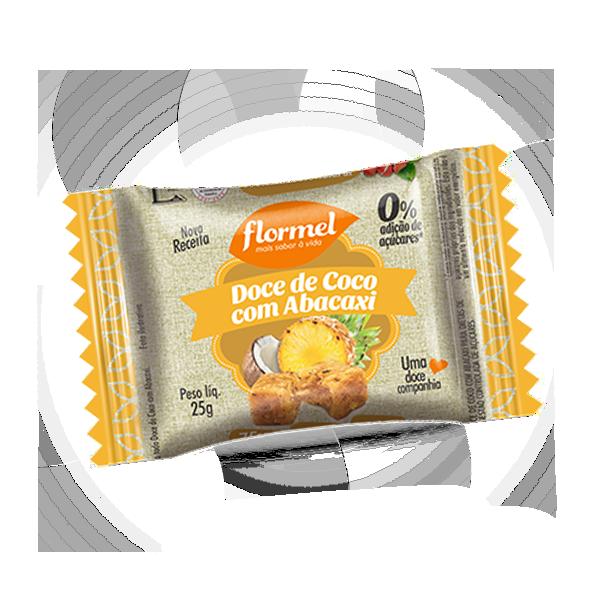 Abacaxi c/ Coco Zero 25g Flormel
