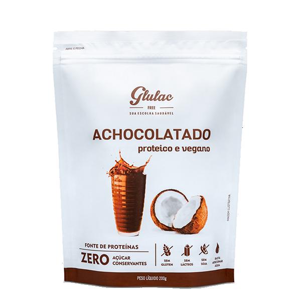 Achocolatado Proteico e Vegano 200g Glulac