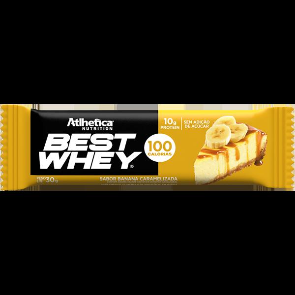 Best Whey Barra de Proteína Banana Caramelizada 30g Atlhetica
