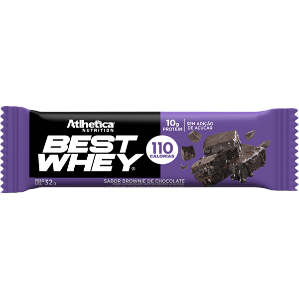 Best Whey Barra de Proteína Brownie de Chocolate 32g Atlhetica