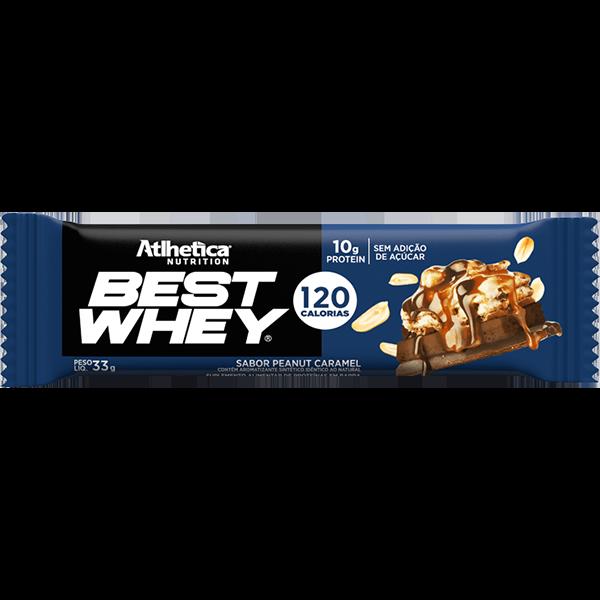 Best Whey Barra de Proteína Penaut Caramel 33g Atlhetica