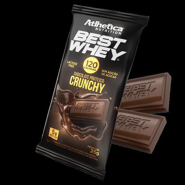 Best Whey Chocolate Proteico Crunchy 25g Atlhetica