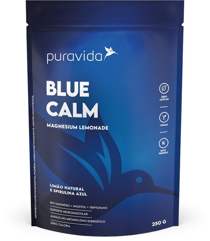 Blue Calm Limão Natural e Spirulina Azul 250G Pura vida