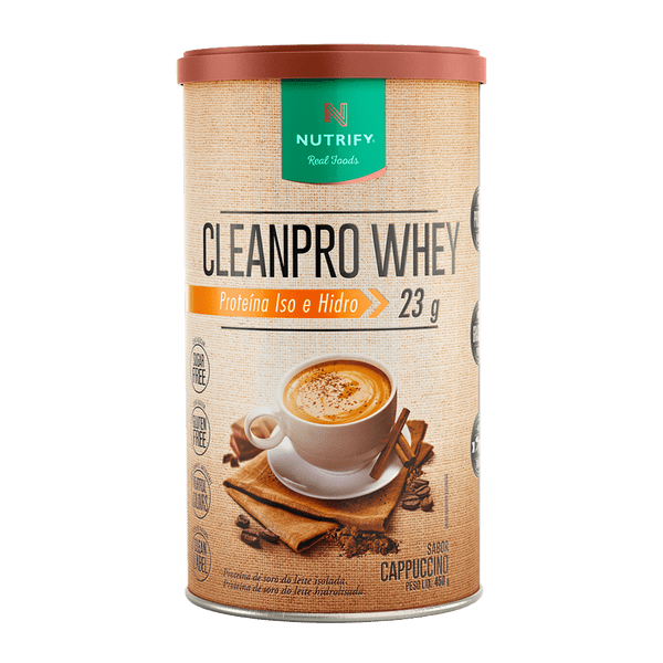 Cleanpro Whey Cappuccino 450 g Nutrify