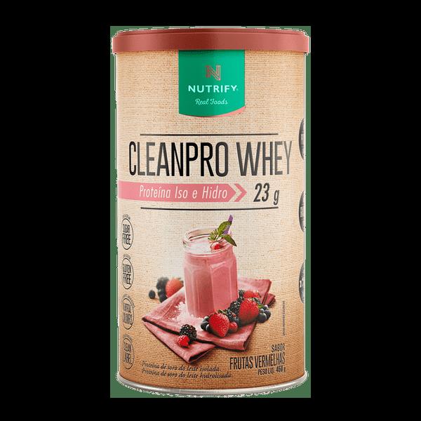 Cleanpro Whey Frutas Vermelhas 450g Nutrify