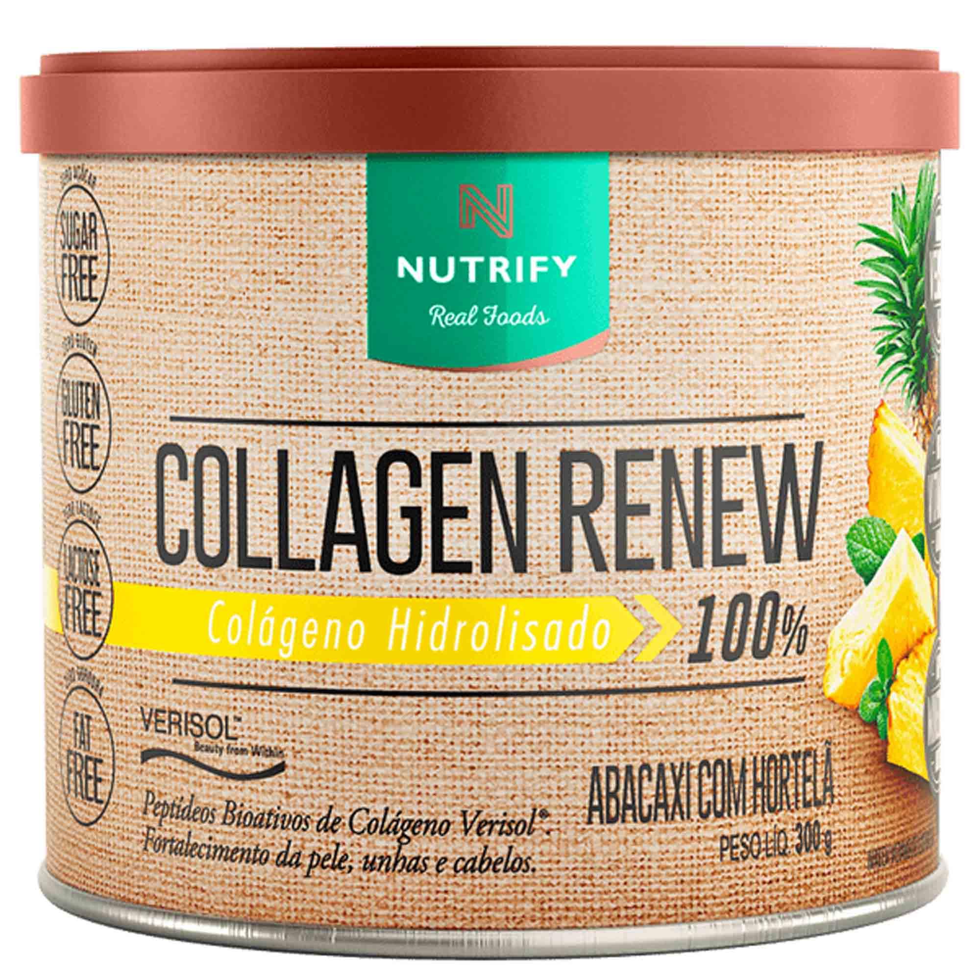 Collagen Renew sabor Abacaxi C/ Hortelã 300g Nutrify