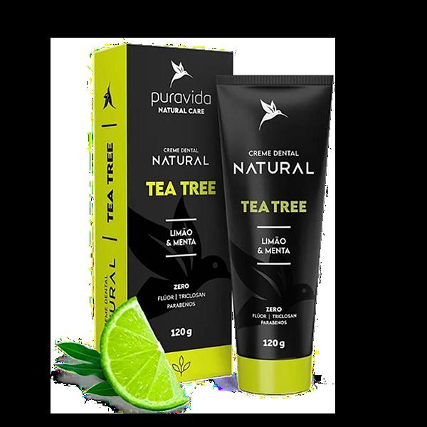 Creme Dental Tea Tree Limão e Menta 120g Pura Vida