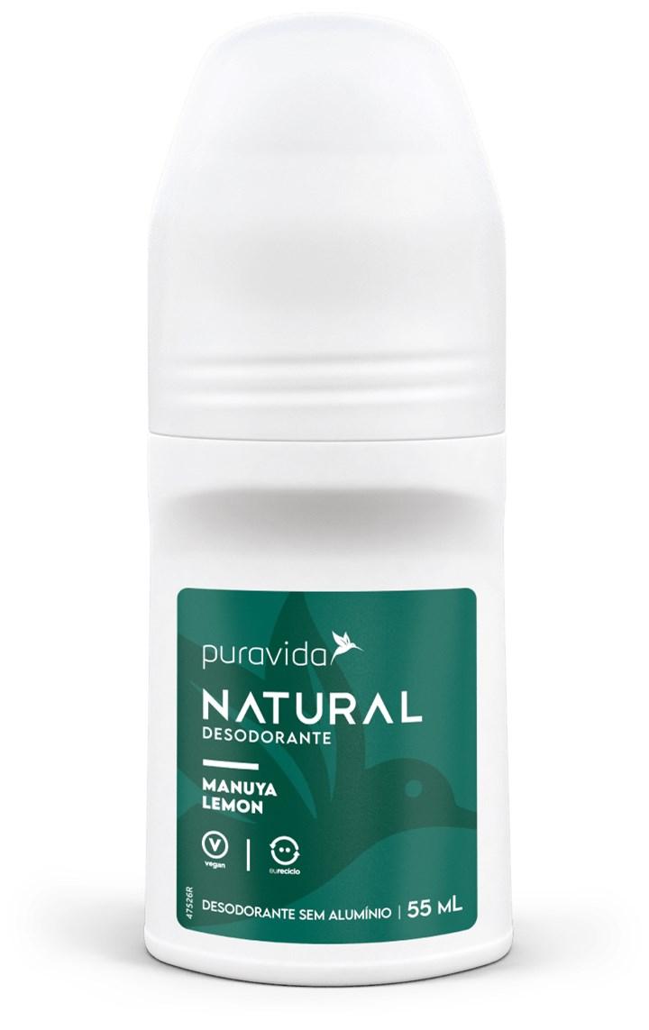 Desodorante Natural Manuya Lemon 55ml Pura Vida