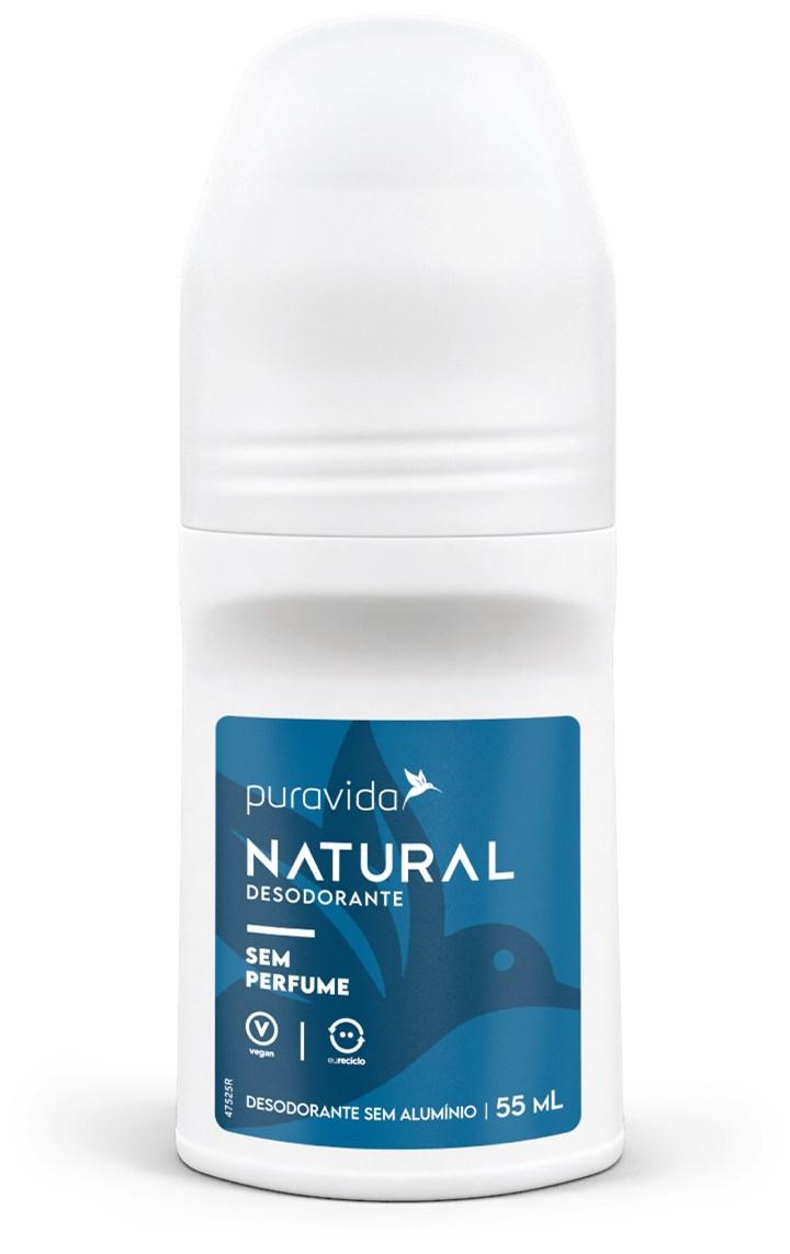 Desodorante Natural Sem Perfume 55ml Pura Vida