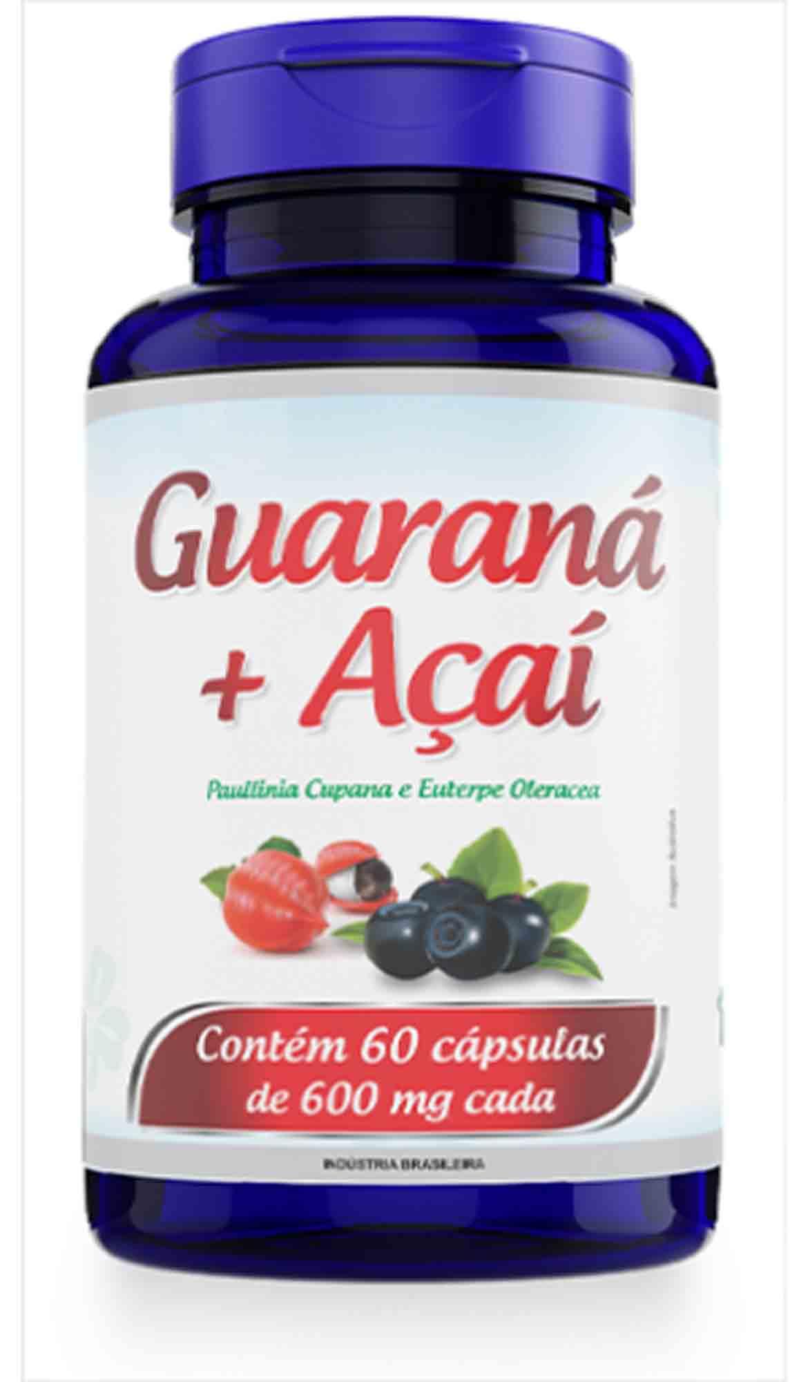 Guaraná com Açaí 60 Caps 600mg Promel