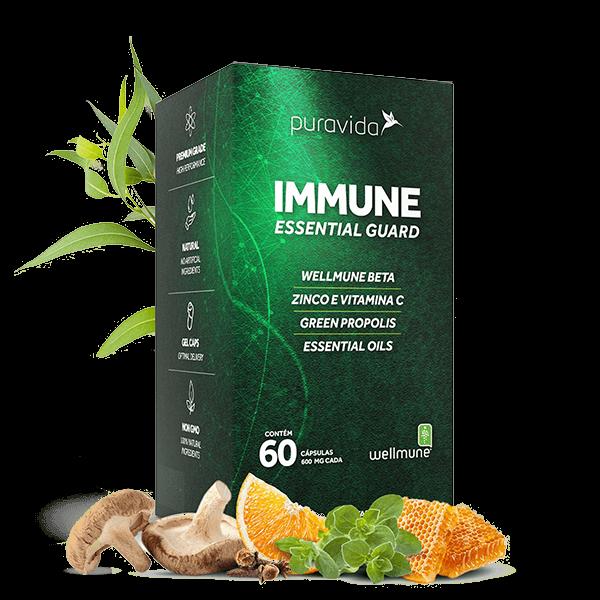 Immune 60 caps de 600mg Pura Vida
