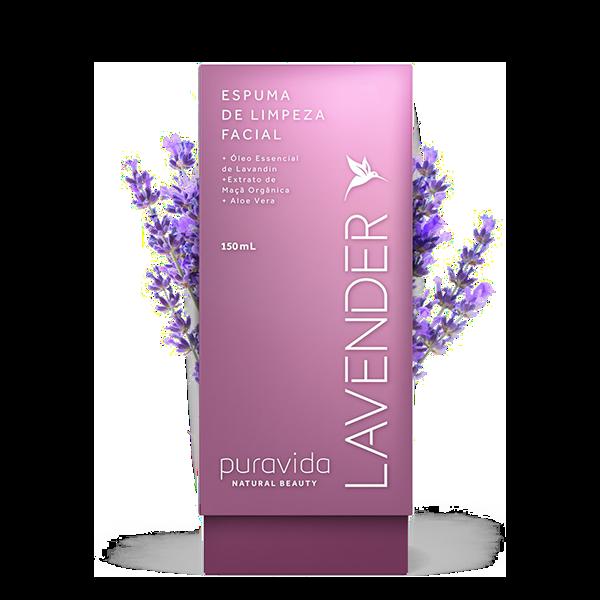 Lavender Espuma de Limpeza Facial 150ml Pura Vida