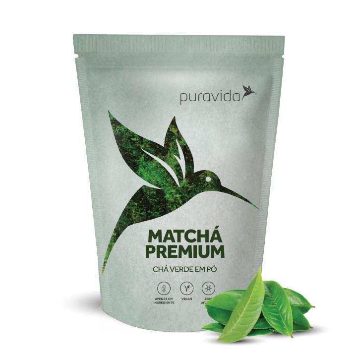 Matchá Premium Chá verde em pó 100g Pura Vida