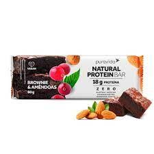 Natural Protein Bar Brownie e Amêndoas 60G Pura Vida