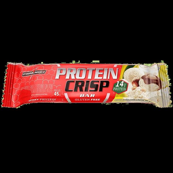 Protein Crisp Bar Leite Niño c/Creme de Avelã 45g IntegralMedica