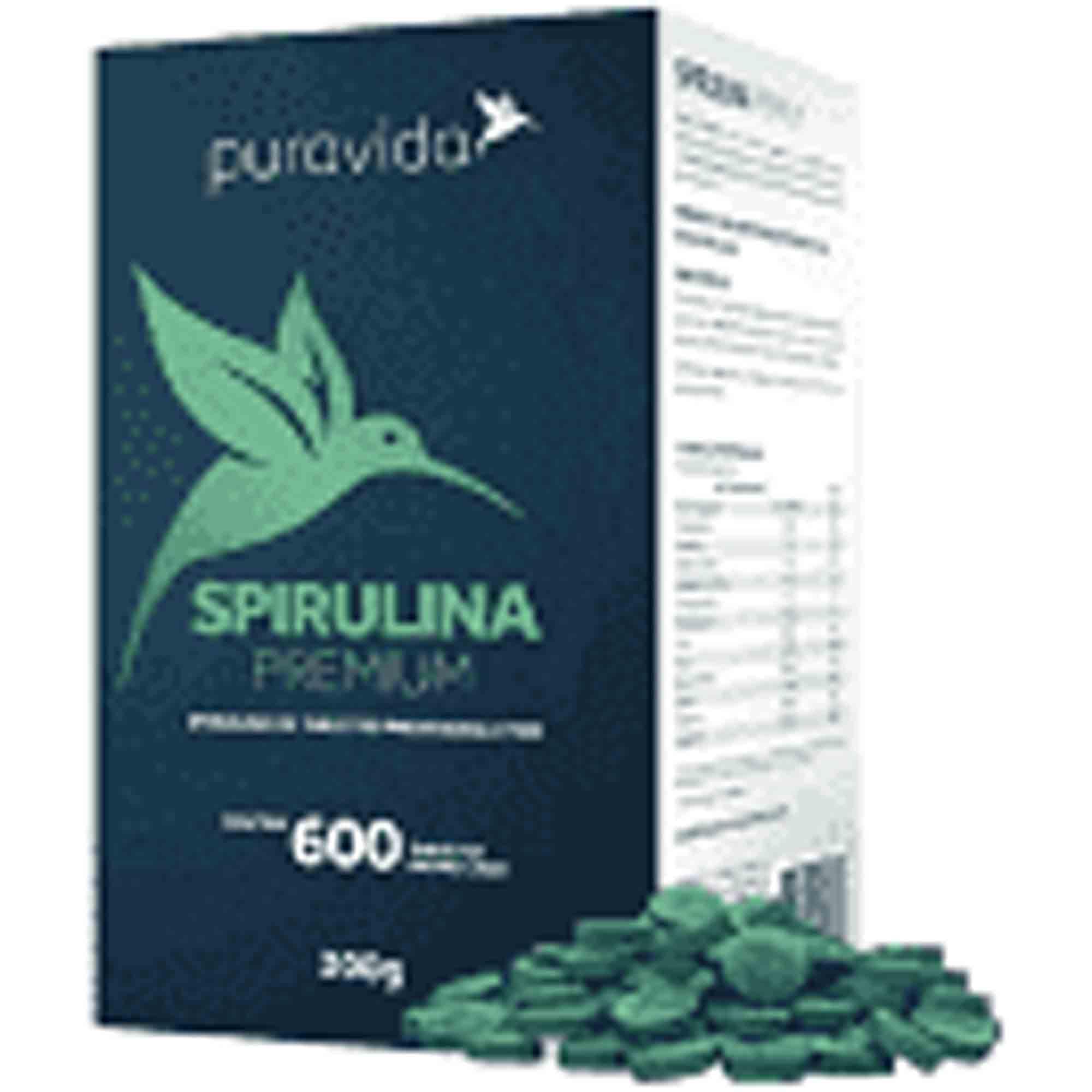 Spirulina Orgânica Premium 600 Tabl 300g Pura Vida