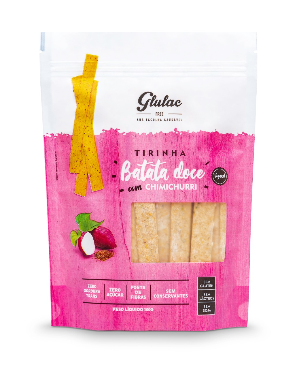 Tirinha de Batata Doce c/ Chimichurri 100g Glulac