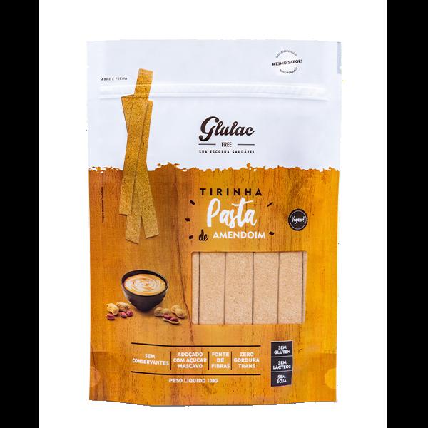 Tirinha Pasta de Amendoim 100g Glulac